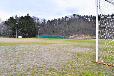 金谷運動広場のサッカー場